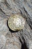 Marcador geográfico no parque estadual de suspensão da rocha imagens de stock royalty free