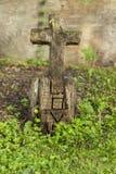 Marcador grave de madeira cinzelado Imagens de Stock Royalty Free
