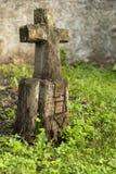 Marcador grave de madeira cinzelado Imagem de Stock