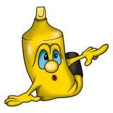 Marcador liso amarelo ilustração royalty free