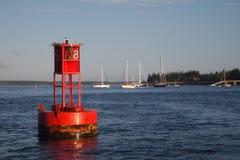 Marcador rojo del canal Foto de archivo libre de regalías