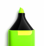 Marcador verde ilustração stock