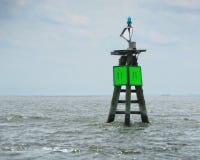 Marcador verde del canal Imagen de archivo libre de regalías