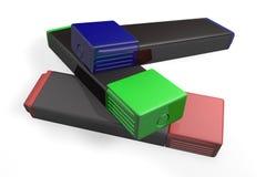 Marcadores coloreados Imágenes de archivo libres de regalías