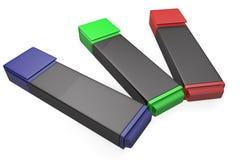 Marcadores coloreados Foto de archivo libre de regalías