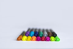 Marcadores coloridos Imagens de Stock Royalty Free
