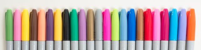 Marcadores coloridos imagens de stock
