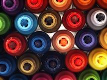 Marcadores coloridos de la escuela de cerca Imagen de archivo