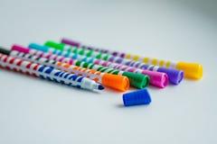 Marcadores coloridos diferentes Fotografia de Stock Royalty Free