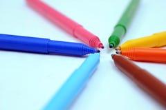 Marcadores coloridos fotos de stock