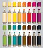 16 marcadores coloridos para los niños con el color 16 stock de ilustración