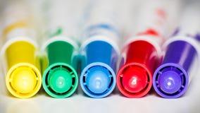 Marcadores da cor Foto de Stock Royalty Free