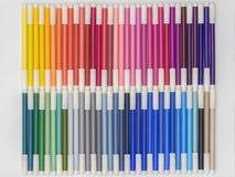 Marcadores 01 del arco iris imágenes de archivo libres de regalías