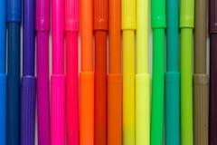 marcadores del arco iris Fotografía de archivo