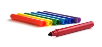 Marcadores del colorante Imagen de archivo libre de regalías
