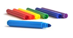 Marcadores del colorante Fotografía de archivo libre de regalías
