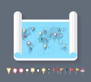 Marcadores del mapa libre illustration