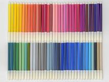 Marcadores 02 do arco-íris Imagens de Stock
