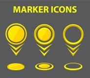 Marcadores do mapa do vetor Imagem de Stock Royalty Free