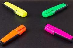 marcadores fechados para trabalhos do projeto Imagens de Stock