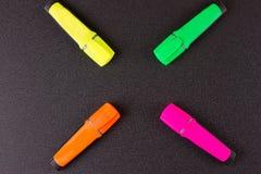 marcadores fechados para trabalhos do projeto Imagens de Stock Royalty Free