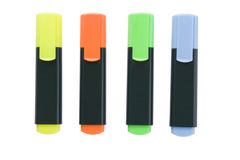 Marcadores fluorescentes Fotos de Stock