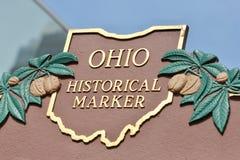 Marcadores históricos em Ohio imagens de stock
