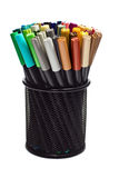 Marcadores no suporte do lápis Foto de Stock