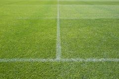 Marcações do campo do estádio dos esportes Imagens de Stock