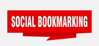 marcar um endereço da Internet social ilustração royalty free