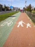 Marcas da bicicleta e do trajeto de passeio Foto de Stock