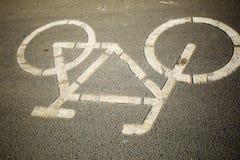 Marcas da pista de bicicleta ilustração royalty free