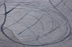 Marcas da rotação da roda Foto de Stock