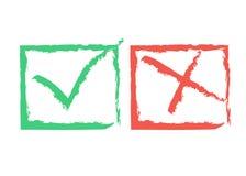 Marcas de aprovação funky ilustração royalty free