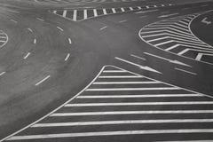 Marcas de camino Imagen de archivo