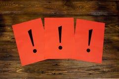 Marcas de exclamación Imagen de archivo libre de regalías