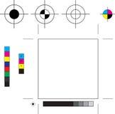 Marcas de impresora stock de ilustración