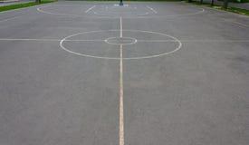Marcas de la cancha de básquet Fotografía de archivo