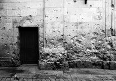 Marcas de la guerra en iglesia española Fotos de archivo libres de regalías
