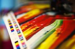 Marcas de la impresión CMYK fotos de archivo libres de regalías