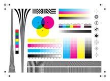 Marcas de la impresión de la calibración stock de ilustración