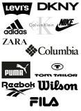 Marcas de la ropa Fotografía de archivo libre de regalías