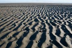 Marcas de Rippl en el fondo del mar de Dublín Foto de archivo libre de regalías