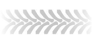 Marcas de semitono del neumático del tractor en blanco ilustración del vector