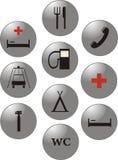 Marcas de servicio. Iconos del vector. Imagen de archivo