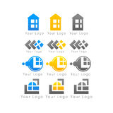 Marcas de tipo do negócio no logotipo branco do fundo Fotos de Stock
