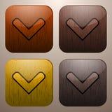 Marcas de verificação de madeira Ilustração Stock