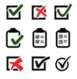 Marcas de verificación stock de ilustración