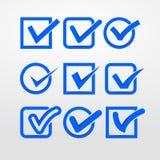 Marcas de verificación del vector stock de ilustración