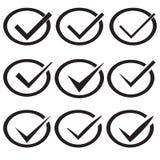 Marcas de verificación o señales Imagen de archivo
